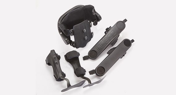 Parker Hannifin Exoskeleton injection molded and machined parts produced by Protolabs
